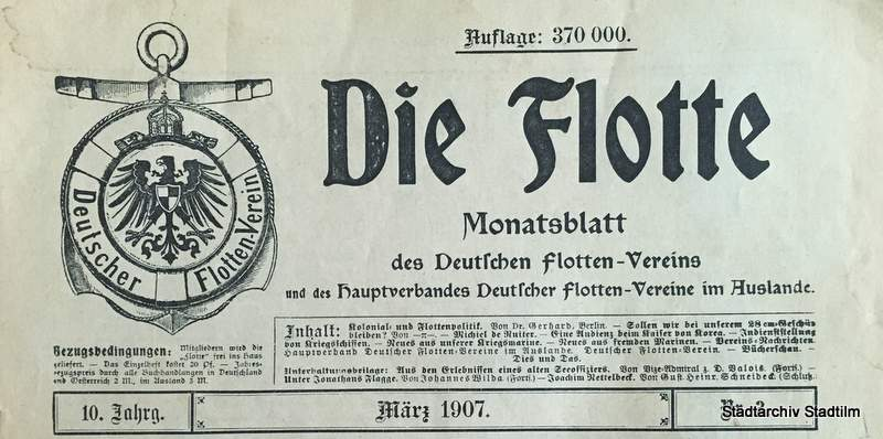 Die Flotte - Monatsblatt des Deutschen Flotten-Vereins